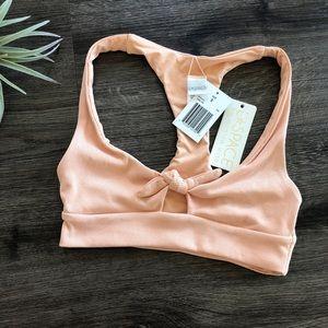 L*Space Ribbed Tara Bikini Top In Desert Rose